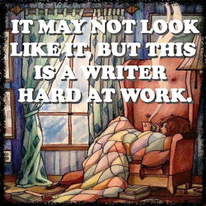 Writer Hard at Work
